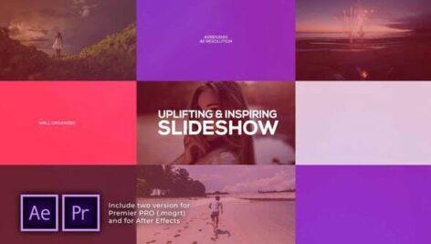 پروژه پریمیر اسلایدشو رزولوشن 4K با موزیک افکت تایپوگرافی Uplifting & Inspiring Slideshow