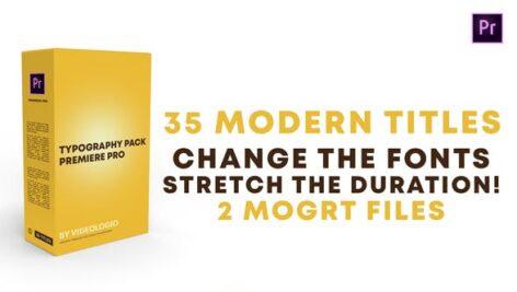 پکیج 35 تایتل آماده پریمیر پرو Typography Pack Premiere Pro
