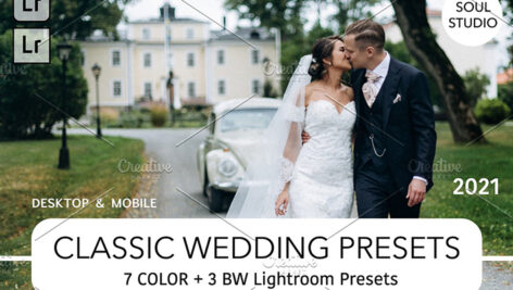 10 پریست لایت روم حرفه ای عروسی Classsic Wedding Lr Presets 2021 NEW