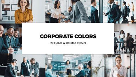 20 پریست لایت روم و لات رنگی تم شرکت Corporate Colors Lightroom Preset