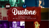220 پریست لایت روم حرفه ای تک رنگ Duotone Mobile and Desktop PRESETS