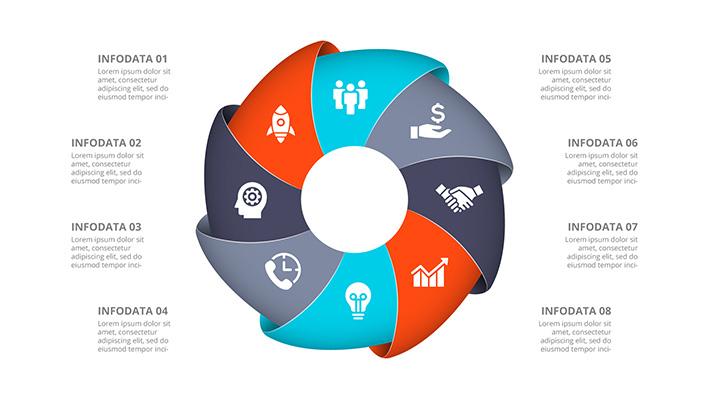 2700 اسلایدشو اینفوگرافیک متحرک پاورپوینت Multipurpose Infographics PowerPoint Templates