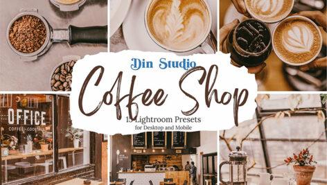 30 پریست لایت روم تم رنگی کافی شاپ Coffee Shop Lightroom Presets