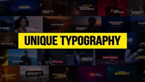۳۲ تایتل آماده پریمیر پرو ۲۰۲۱ فوق حرفه ای Unique Typography