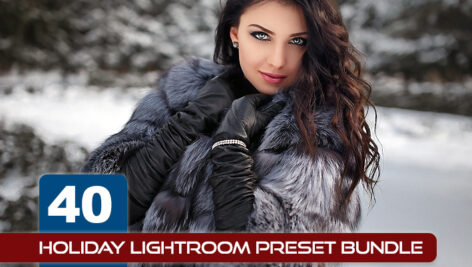 40 پریست آماده لایت روم حرفه ای زمستان Holiday Lightroom Preset Bundle