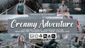 40 پریست لایت روم تم رنگی خاکستری Creamy Adventure Lightroom Presets