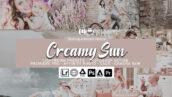 40 پریست لایت روم حرفه ای تم روشن شیری رنگ Creamy Sun Presets