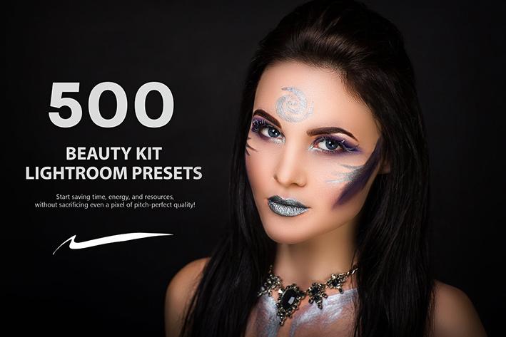 500 پریست لایت روم حرفه ای 2021 رتوش چهره Beauty Kit Lightroom Presets