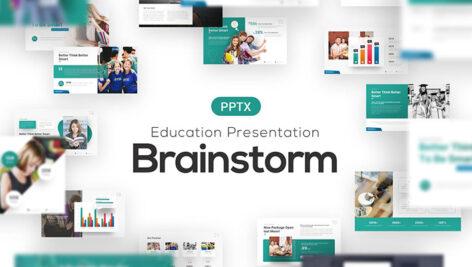 قالب آماده پاورپوینت تحصیلات دانشگاهی Brainstorm University Education Template