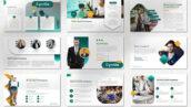 قالب پاورپوینت حرفه ای تجارت و شرکت Cyntia Pitch Deck Powerpoint Template