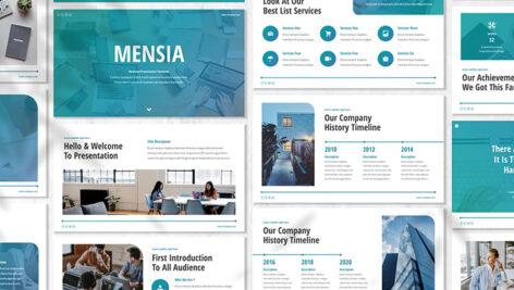 قالب پاورپوینت و گوگل اسلایدر تم تجارت Mensia Business Powerpoint Template