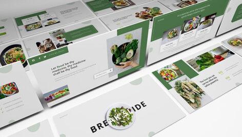 قالب پاورپوینت و گوگل اسلایدر تم مواد غذایی Saladslice Powerpoint Presentation Template