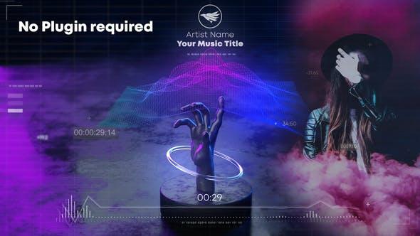 پروژه آماده افتر افکت حرفه ای با موزیک تبلیغ موزیک Hand Wave Music Visualizer