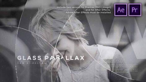 پروژه آماده پریمیر اسلایدشو با موزیک افکت پارالاکس Glass Circles Parallax Slideshow