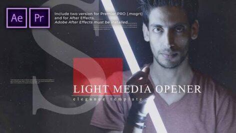 پروژه آماده پریمیر اسلایدشو با موزیک افکت پارالاکس Light Media Opener Slideshow