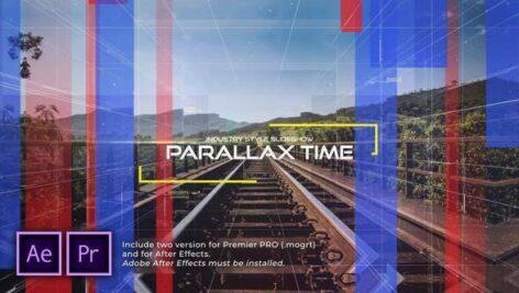 پروژه آماده پریمیر اسلایدشو با موزیک افکت پارالاکس The Time Industry Parallax Slideshow