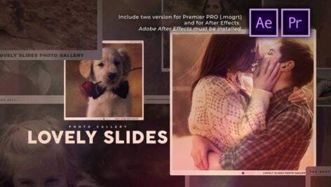 پروژه آماده پریمیر اسلایدشو با موزیک گالری عشق Lovely Slides Photo Gallery