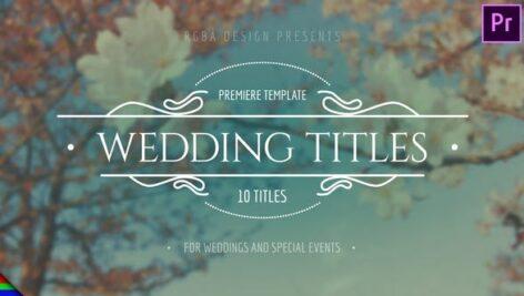 10تایتل آماده عروسی برای پریمیر پرو مدرن Elegant Wedding Titles - Premiere Pro | Mogrt