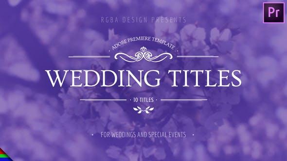 10تایتل آماده عروسی برای پریمیر پرو Floral Wedding Titles - Premiere Pro | Mogrt