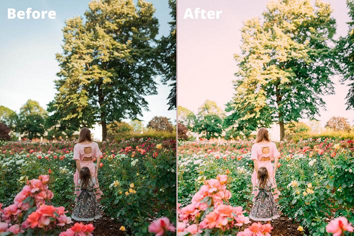 12 پریست لایت روم پرتره تم صورتی Pink Portrait Lightroom Presets