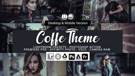 20 پریست لایت روم سینمایی و اکشن فتوشاپ و لات رنگی Coffe Theme Presets