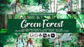 20 پریست لایت روم و اکشن فتوشاپ و لات رنگی تم جنگل سبز Green Forest Presets
