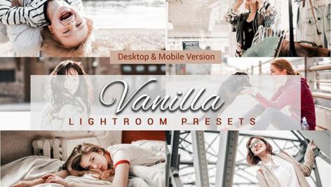 20 پریست لایت روم و لات رنگی و اکشن فتوشاپ تم وانیلی Vanilla Lightroom Presets