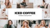 20 پریست لایت روم و لات رنگی و پریست کمراراو فتوشاپ تم قهوه Iced Coffee Lightroom Preset LUTs