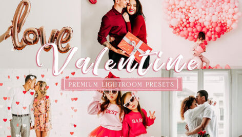 24 پریست لایت روم پرتره تم ولنتاین VALENTINE Portrait Lightroom Presets