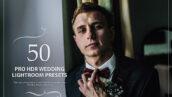 50 پریست لایت روم حرفه ای عروسی افکت اچ دی آر Pro HDR Wedding Lightroom Presets