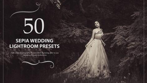 50 پریست لایت روم حرفه ای عروسی افکت قهوه ای Sepia Wedding Lightroom Presets