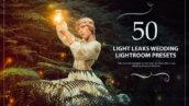 50 پریست لایت روم حرفه ای عروسی افکت نوری Light Leaks Wedding Presets
