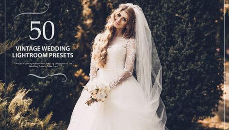 50 پریست لایت روم حرفه ای عروسی تم سینمایی Vintage Wedding Lightroom Presets