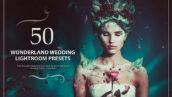 50 پریست لایت روم حرفه ای عروسی تم عروس زیبا Wonderland Wedding Presets