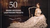 50 پریست لایت روم حرفه ای عروسی رنگ گرم Warm Wedding Lightroom Presets