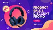 پروژه آماده افتر افکت با موزیک تخفیف فروشگاهی Product Sale & Discount Promo
