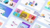 پروژه آماده افتر افکت تبلیغات وب سایت Slide Pro Website Promo Slides Presentation