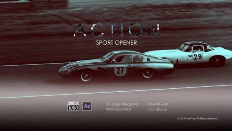 پروژه آماده افتر افکت تیتراژ سینمایی اکشن با موزیک Action Sport Opener