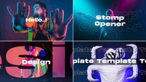 پروژه آماده افتر افکت تیتراژ سینمایی تایپوگرافی با موزیک Clean Stomp Opener