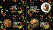 پروژه آماده افتر افکت حرفه ای 2021 با موزیک معرفی رستوران Food Promo