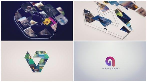پروژه آماده افتر افکت لوگو 2021 با موزیک تم طرح موزائیک Sketch Mosaic Logo Reveal