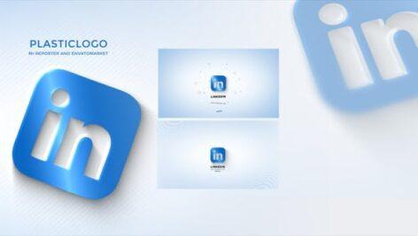 پروژه آماده افتر افکت نمایش لوگو با موزیک افکت پلاستیکی Plastic Simple Logo