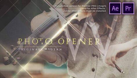 پروژه آماده پریمیر اسلایدشو حرفه ای با موزیک Original Modern Photo Opener