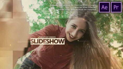 پروژه آماده پریمیر اسلایدشو سینمایی با موزیک Elegant Easy Cinematic Slideshow