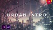 پروژه آماده پریمیر با موزیک : تیتراژ و وله حرفه ای Urban Intro