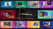 پروژه پریمیر اسلایدشو با موزیک افکت بارکد Barcode Slideshow   Premiere Pro MOGRT