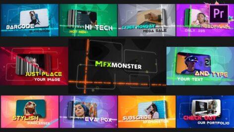 پروژه پریمیر اسلایدشو با موزیک افکت بارکد Barcode Slideshow | Premiere Pro MOGRT