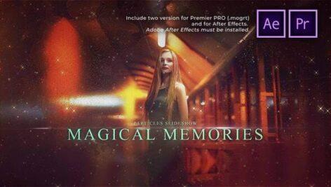 پروژه پریمیر اسلایدشو با موزیک افکت ذرات Particles Slideshow Magical Memories