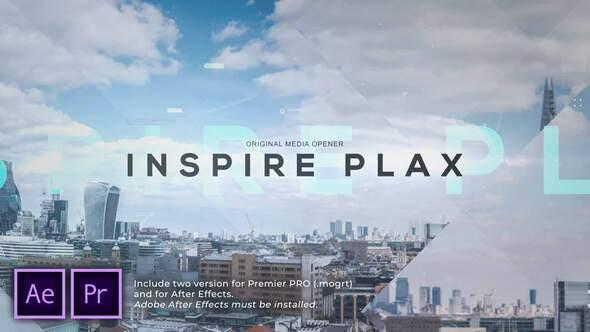 پروژه پریمیر اسلایدشو با موزیک پارالاکس هوشمندانه Inspire Parallax Photo Opener