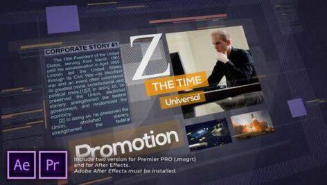 پروژه پریمیر با موزیک معرفی شرکت تم مدرن Z Time. Universal Corporate Promo